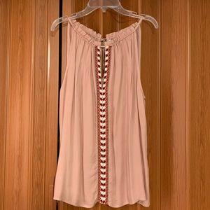 Lucky Brand top women's size med sleeveless pink
